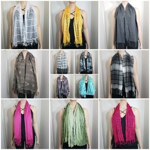 Set of 12 Scarves All Seasons Winter Summer Spring